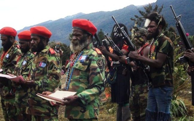 Members of the West Papua Liberation Army Photo: TPNPB