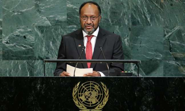 Vanuatu's prime minister, Charlot Salwai, says the people of West Papua must be allowed the right to self-determination. Photograph: Eduardo Munoz/Reuters